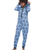 Light Blue Munki Munki Darth Vader Sparkle Hooded Fleece Onesie MO1826 image 2 - Brayola