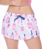 Munki Munki Rose Satin Petal Sleep Shorts M01870 image 3 - Brayola