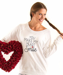 White Love And Grace Joey Sweatshirt SFT1073P image 2 - Brayola