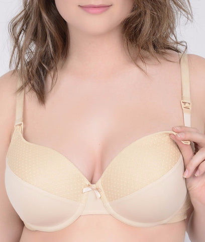 Q-T Intimates Dottie Dot Lace Nursing Bra N3325