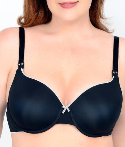 Q-T Intimates Molded Micro T-Shirt Nursing Bra N3456