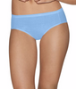 Blue/white Hanes Ultimate™ Comfort Cotton Women's Hipster Panties 5-Pack 41HUCC image 2 - Brayola