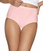 Pink/white Hanes Ultimate™ Comfort Cotton Women's Brief Panties 5-Pack 40HUCC image 2 - Brayola
