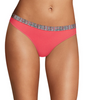 Arrow Stripe Print W/briny Pink Heather Maidenform Sport Heathered Micro Thong DMMSMT image 2 - Brayola