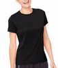 Black Hanes Women's Cool DRI T-Shirt 4830 image 2 - Brayola