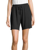 Black Hanes Women's French Terry Short HAC80158 image 2 - Brayola