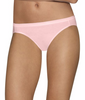 Pink/white Hanes Ultimate™ Comfort Cotton Women's Bikini Panties 5-Pack 42HUCC image 2 - Brayola