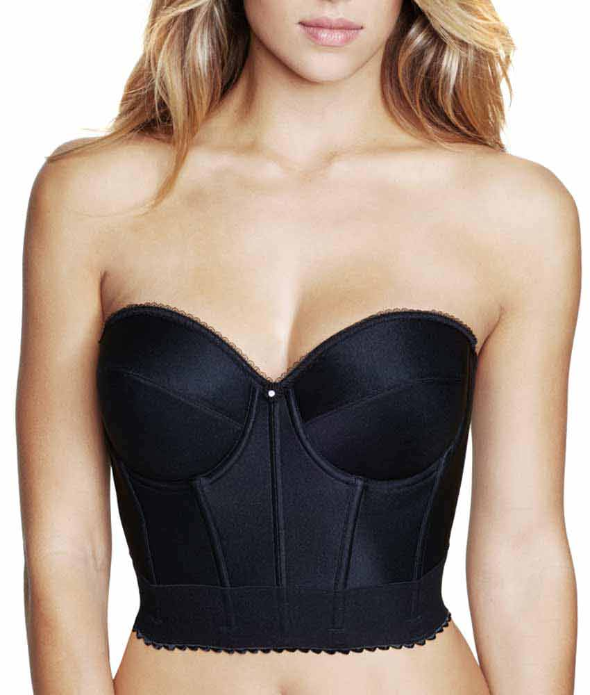Dominique - Backless Satin Longline Bra