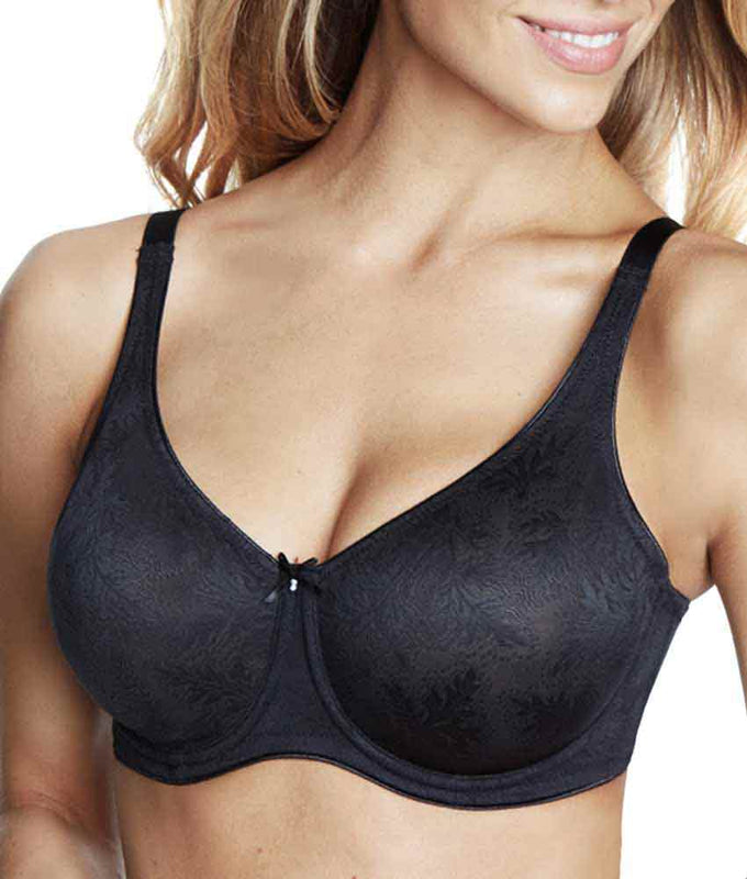 b64cfa72c1 Black Dominique Lila Everyday Lace Minimizer Bra 7001 image 1 - Brayola