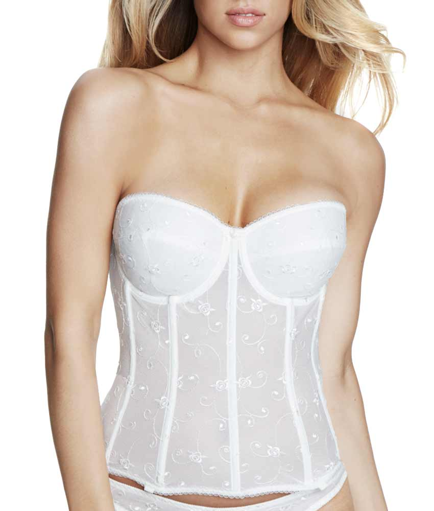 Dominique - All Lace Long Line Bustier Bra