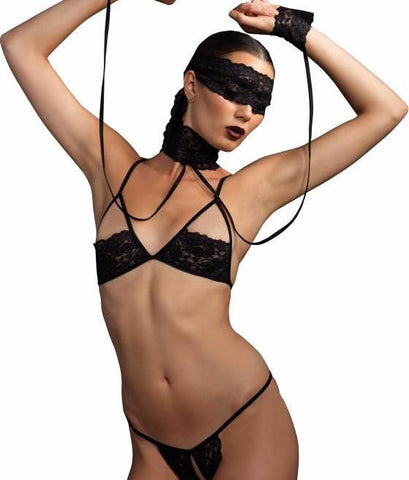 Leg Avenue 4Pc. Bra And G-String Set Ki4002