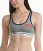 Baseball Style Hilfiger Placement Htr Grey Tommy Hilfiger Cotton Lounge Logo Bralette R79T007 image 2 - Brayola