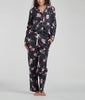 Floral Anthracite Karen Neuburger Long Sleeve Girlfriend Pajama Set RE0176 image 2 - Brayola