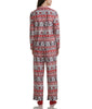 Karen Neuburger Minky Fleece Long Sleeved Girlfriend Pajama Set With Sock RZ0029 image 3 - Brayola