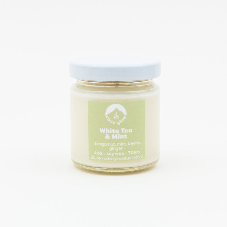 white tea mint soy candle