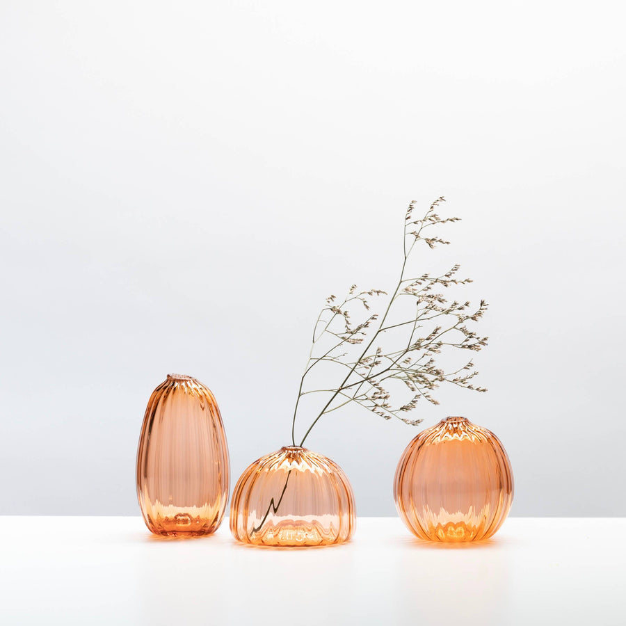 orange glass bud vase