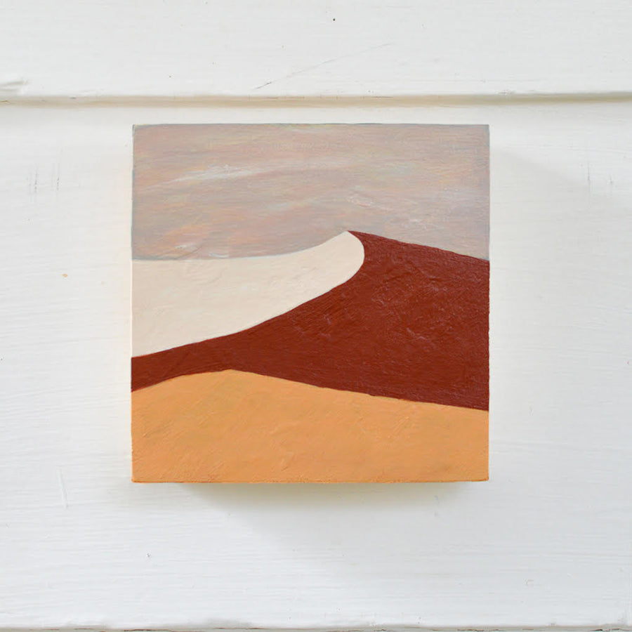 sand dune painting wood block