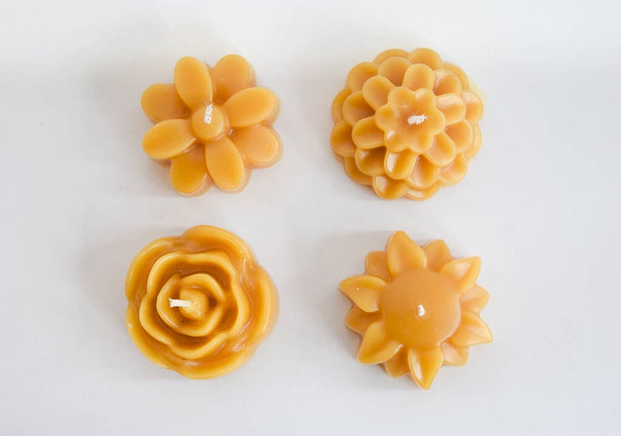 beeswax flower tealight candles