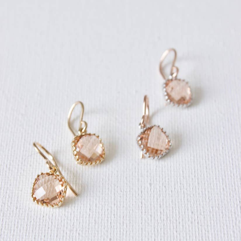 Petite Blush Stone Earrings