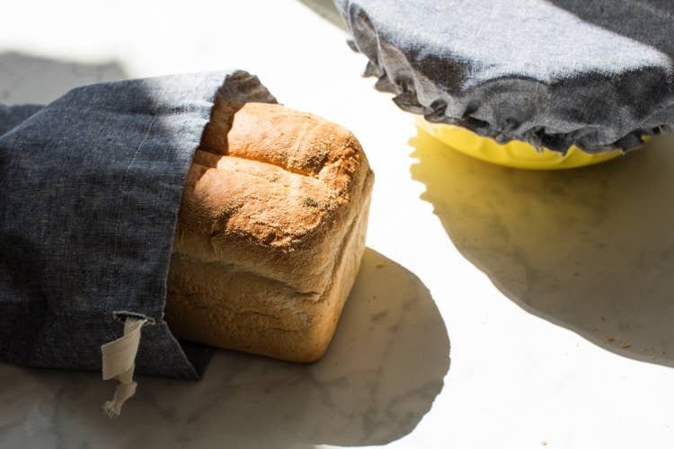 cloth bread making bag