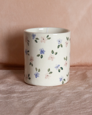 floral ceramic soy candle
