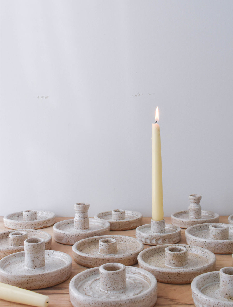 ceramic candlestick holders