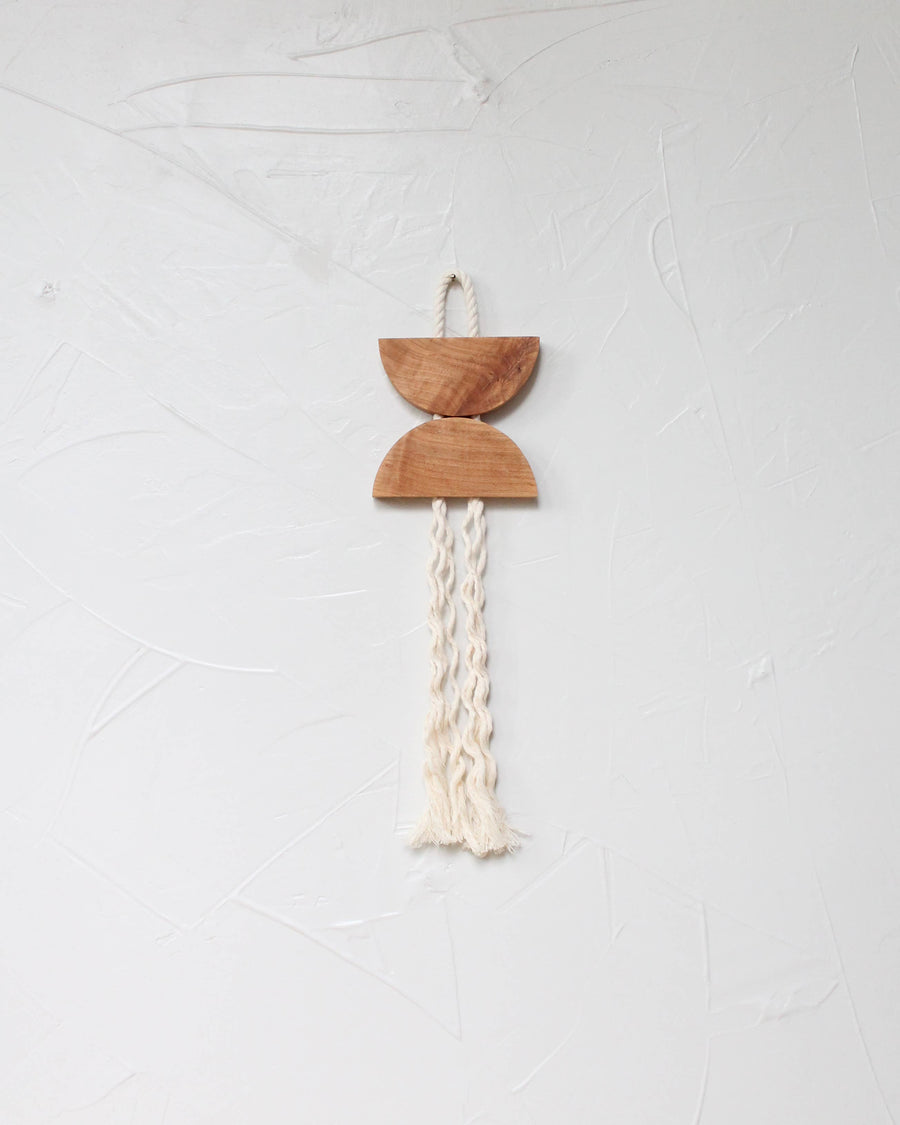wood rope wall hanging