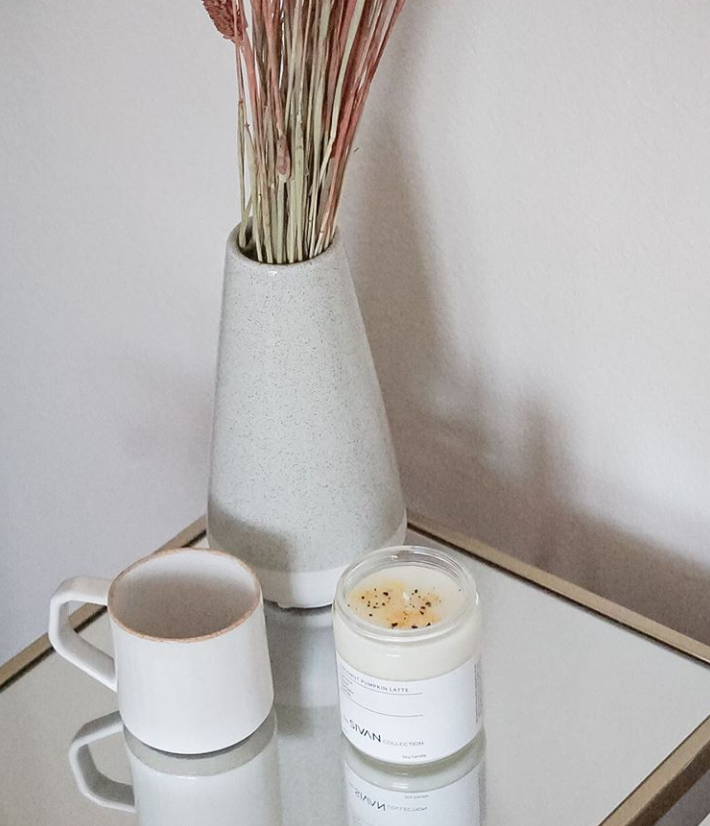 coconut pumpkin latte candle