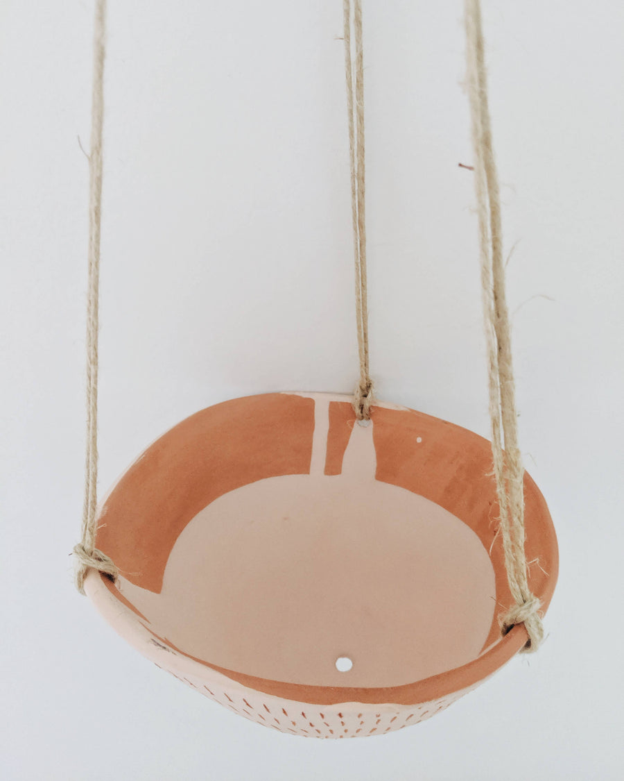 earthenware hanging planter