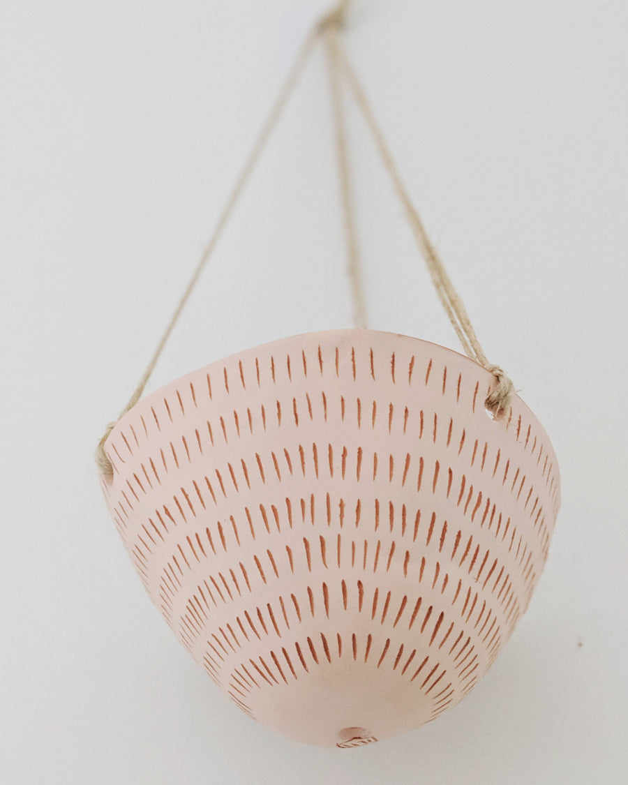 terracotta ceramic hanging planter