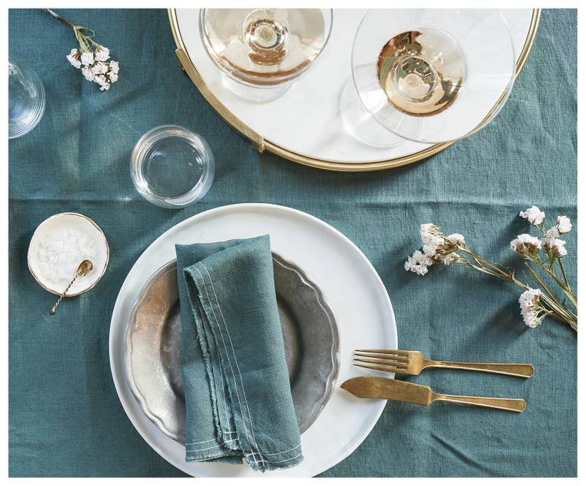 dark green linen napkins