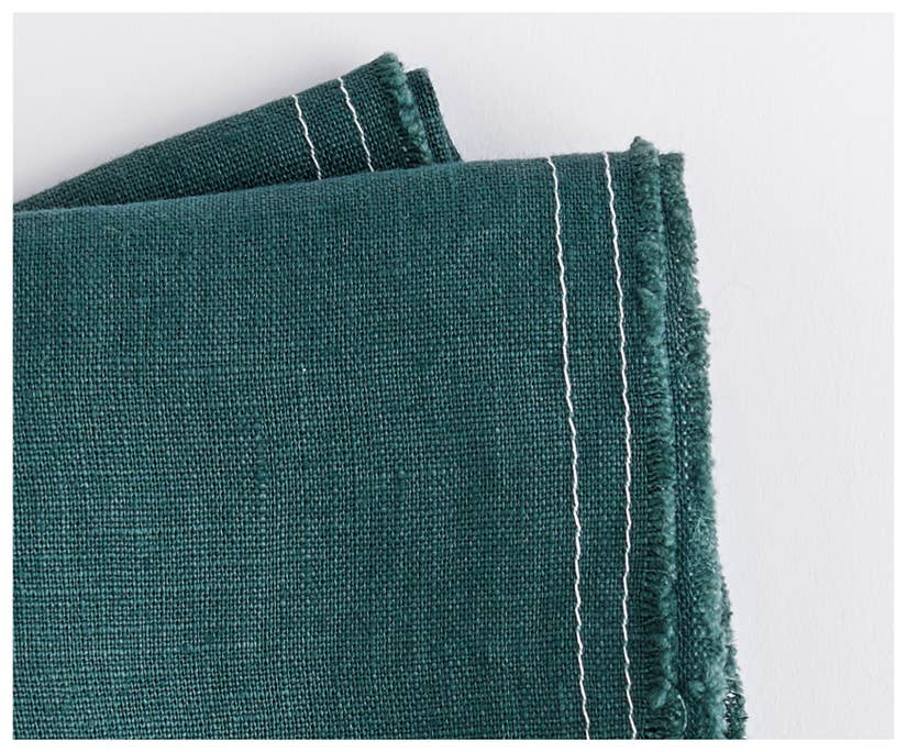 unfinished hem linen napkins