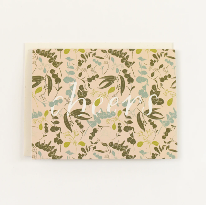 floral holiday card set