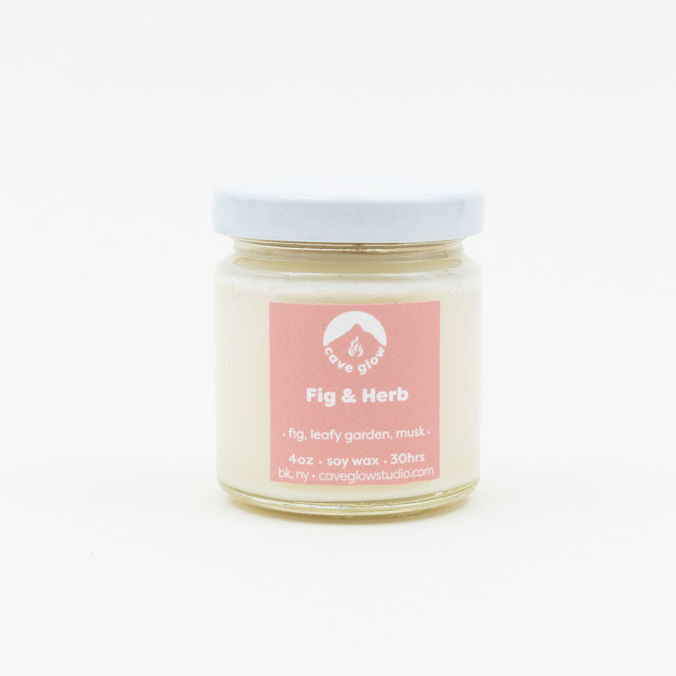 fig herb soy candle