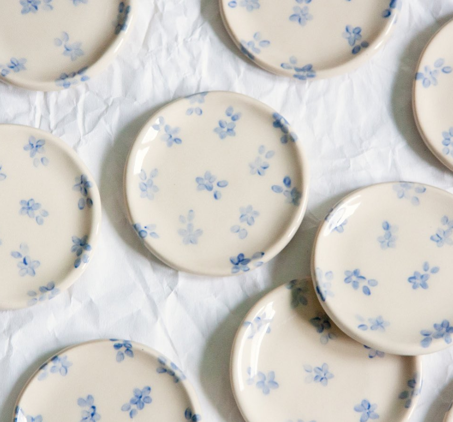 floral ceramic ring dish