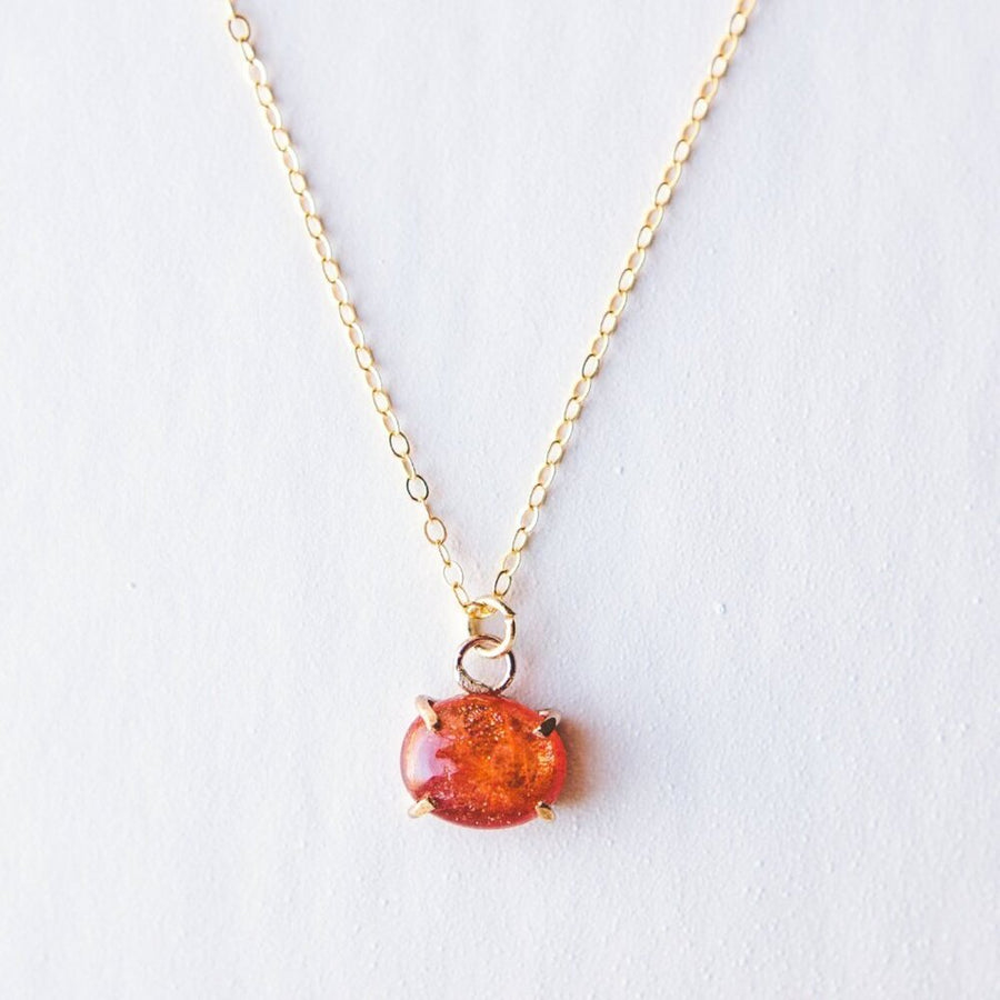 sunstone gold necklace