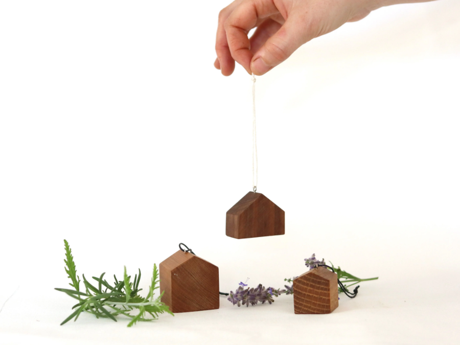 wooden house ornament