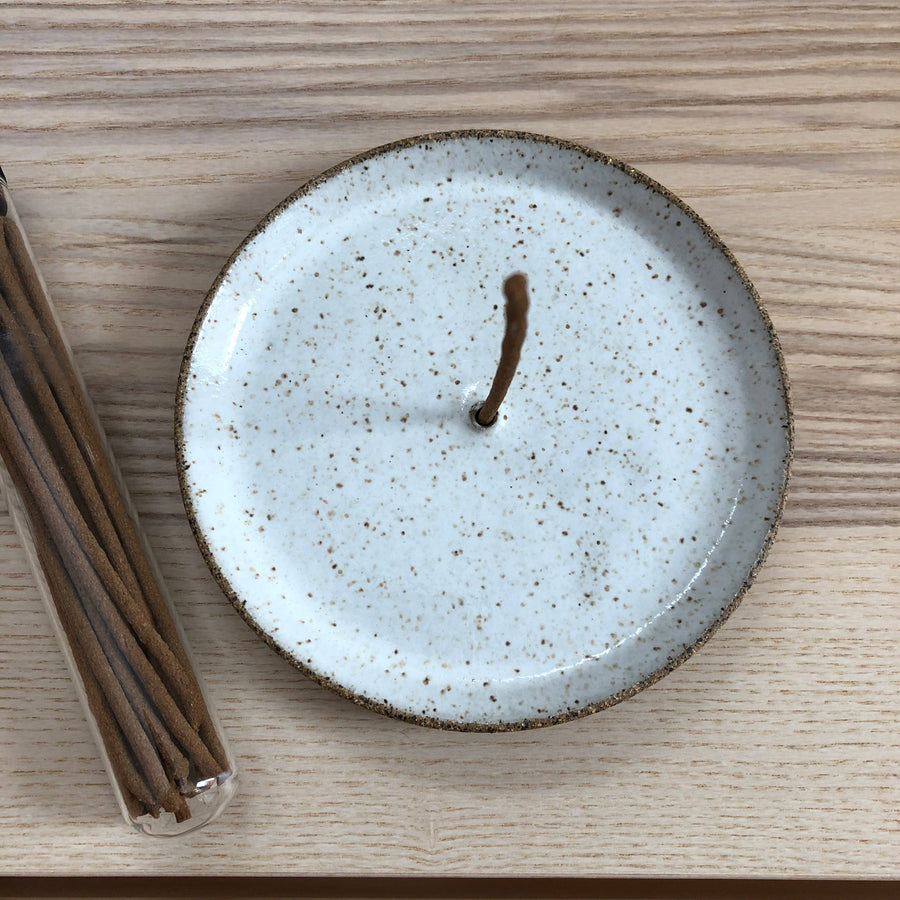 natural ceramic incense holder