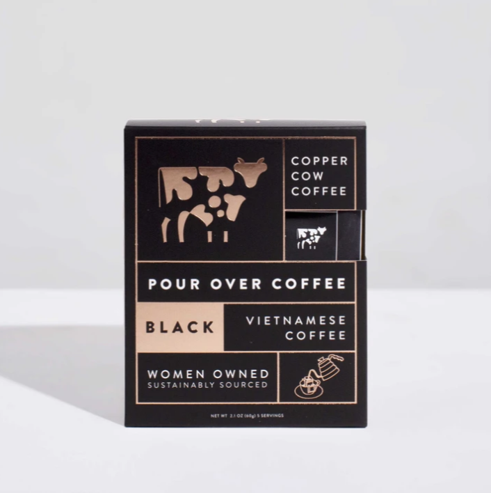 Vietnamese Black Pour Over Coffee by Copper Cow
