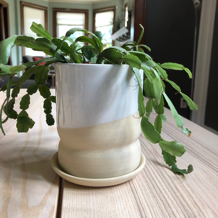 Light Stoneware Form Planter