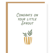 Little Sprout Baby Card