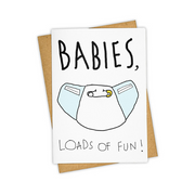 funny baby diaper card