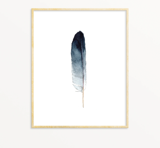 Lone Feather No. 15 Print