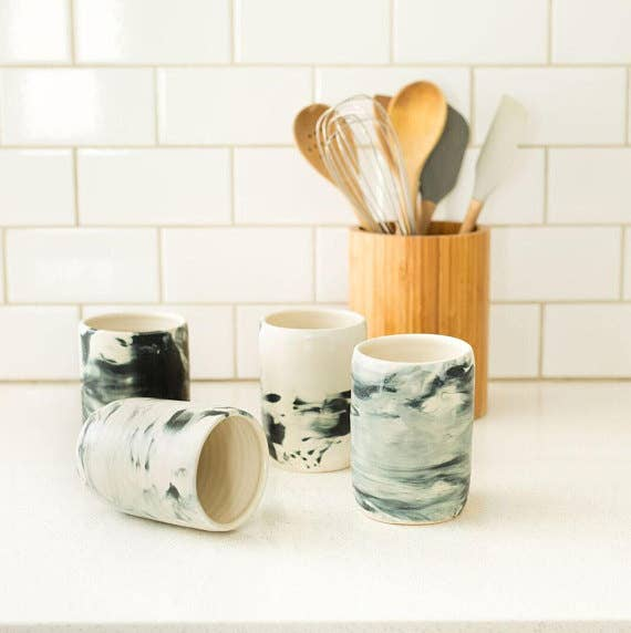marble ceramic coffee mug