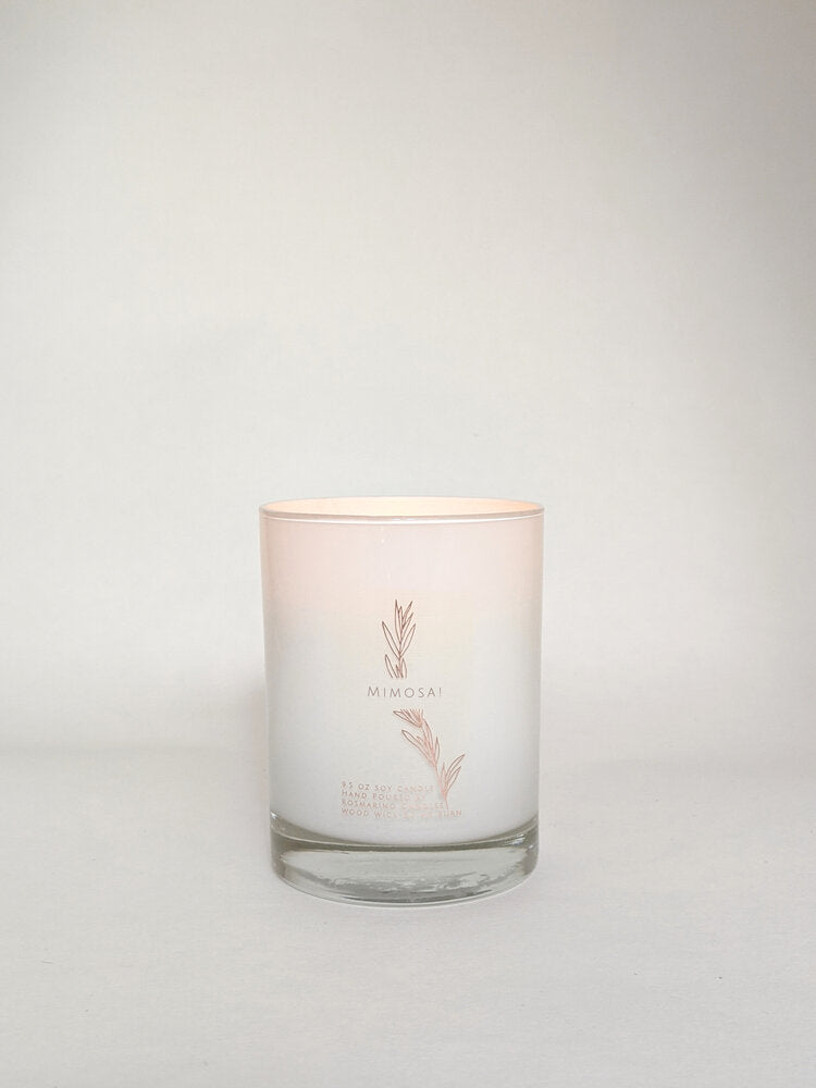 Mimosa Wood Wick Candle
