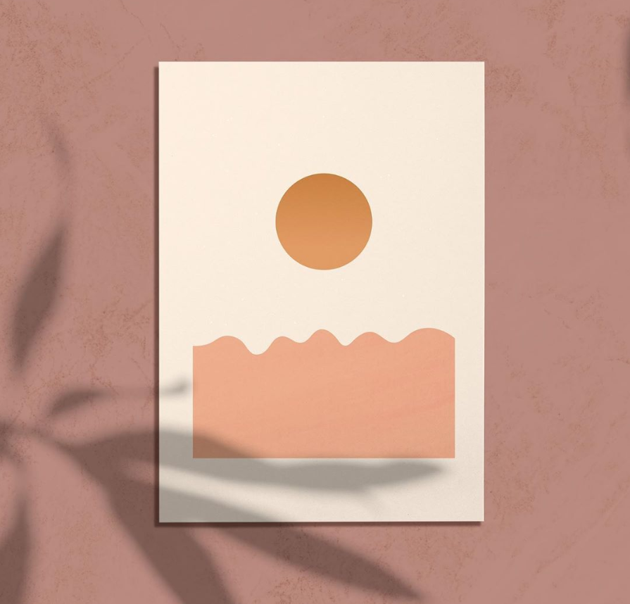 modern sunset art print