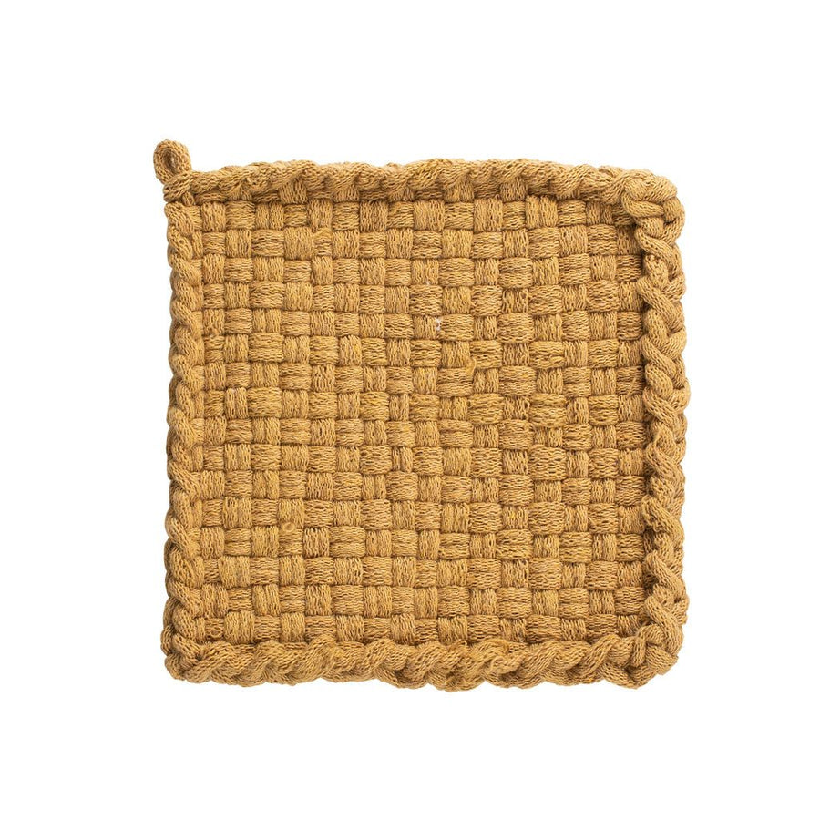 ochre cotton potholder