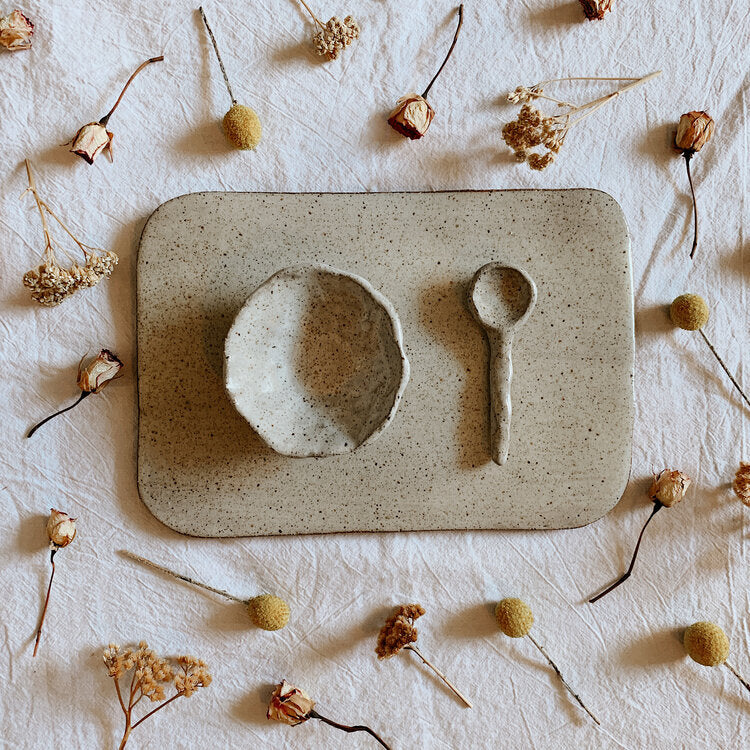 ceramic pinch bowl spoon