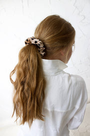 polka dot velvet scrunchie