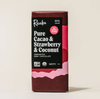 Pure Cacao, Strawberry and Coconut Chocolate Bar